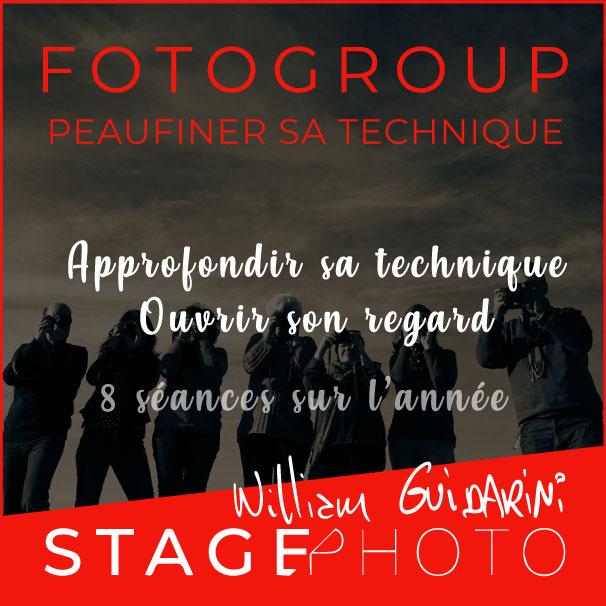 Stage photo Fotogroup avec William Guidarini